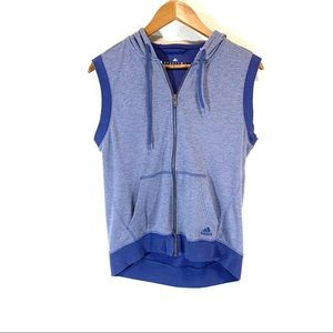 Adidas • Sweatshirt Vest W/ Hood and Zipper